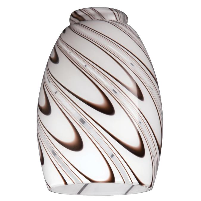 2-1/4-Inch Handblown Chocolate Drizzle Glass Shade