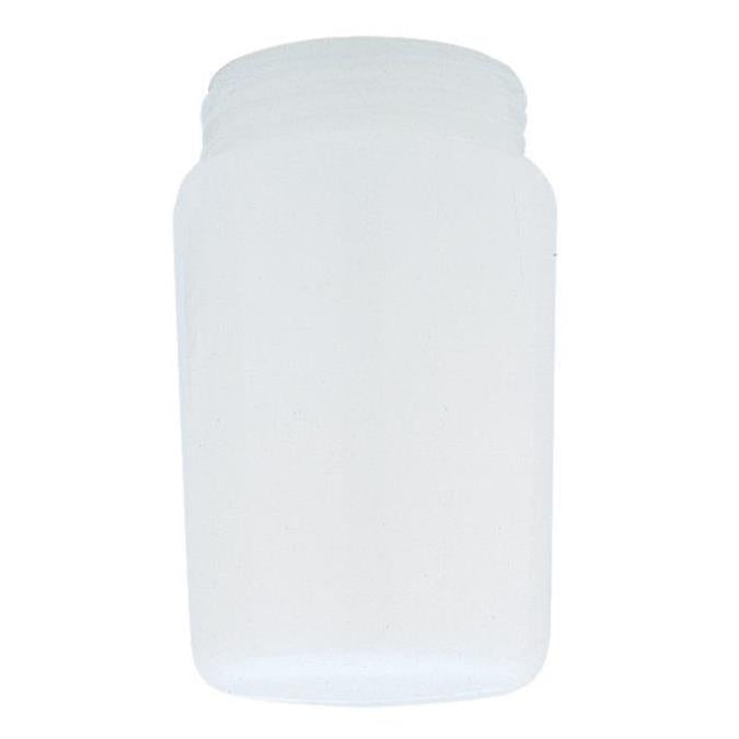3-1/4-Inch White Tapered Polycarbonate Threaded Neck Shade