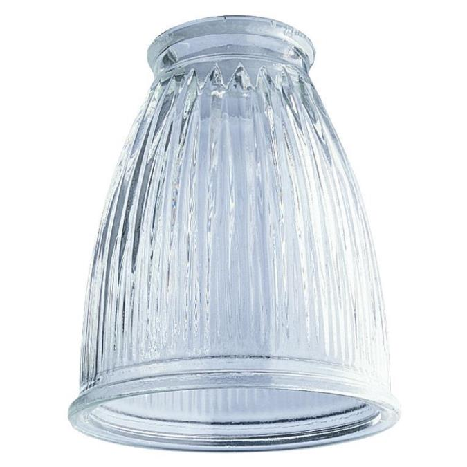 2-1/4-Inch Crystal Clear Pleated Glass Shade