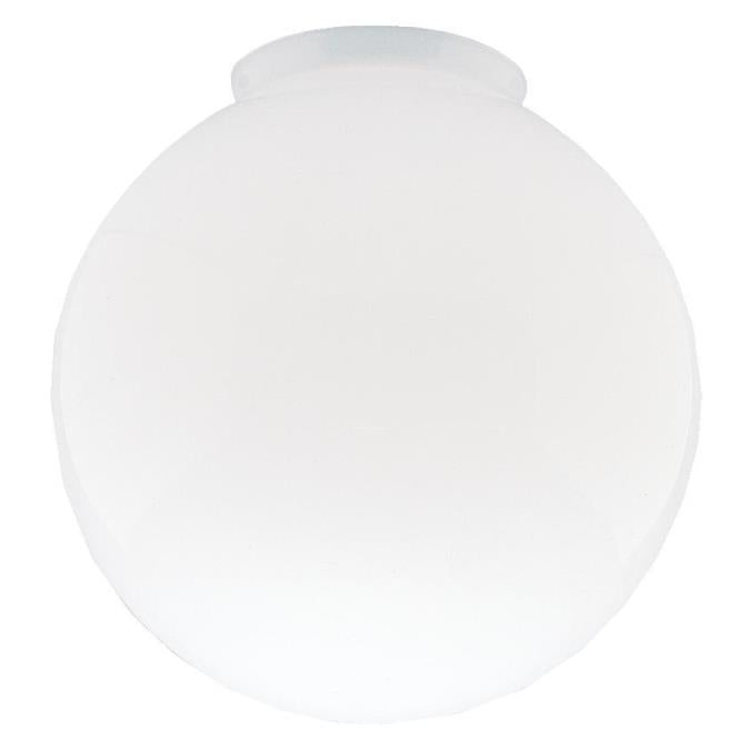 4-Inch Handblown Gloss White Glass Globe