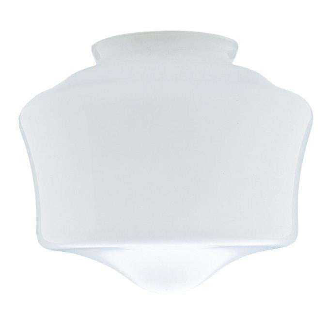 White Schoolhouse Glass Shade