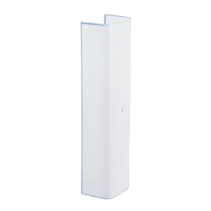 12-Inch White Channel Glass