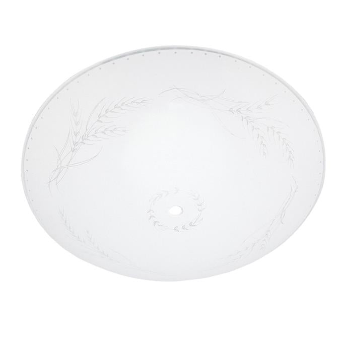 13-Inch Clear Wheat Design on White Glass Diffuser