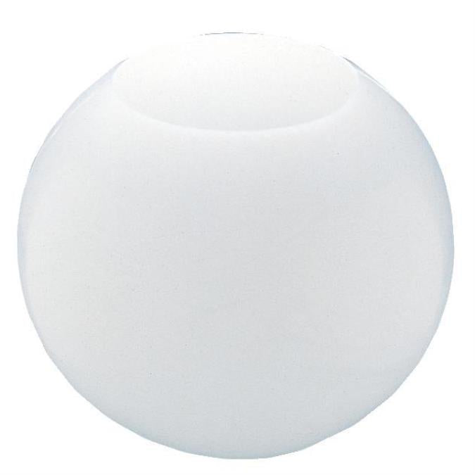 5-1/4-Inch White Acrylic Neckless Globe
