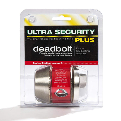 6-Way Latch Deadbolt Satin Nickel