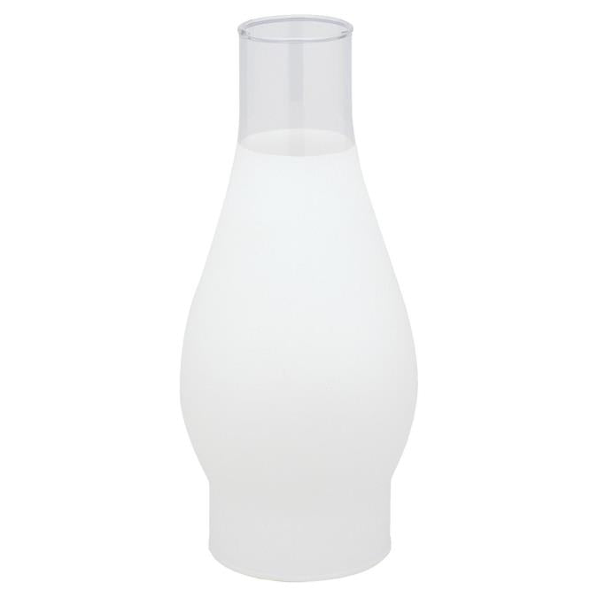 2-5/8-Inch Handblown 3/4 Frosted Glass Chimney