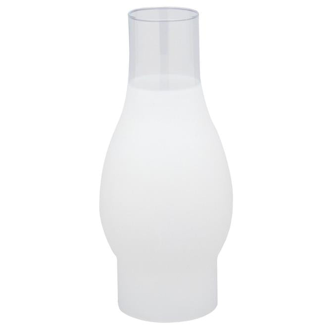 3-Inch Handblown 3/4 Frosted Glass Chimney