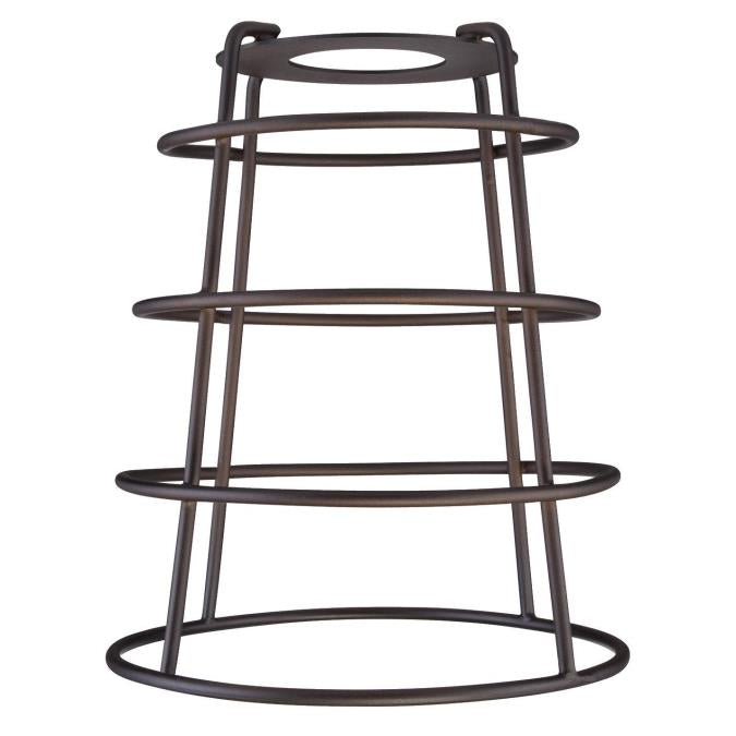 2-1/4-Inch Oil Rubbed Bronze Industrial Cage Neckless Metal Shade