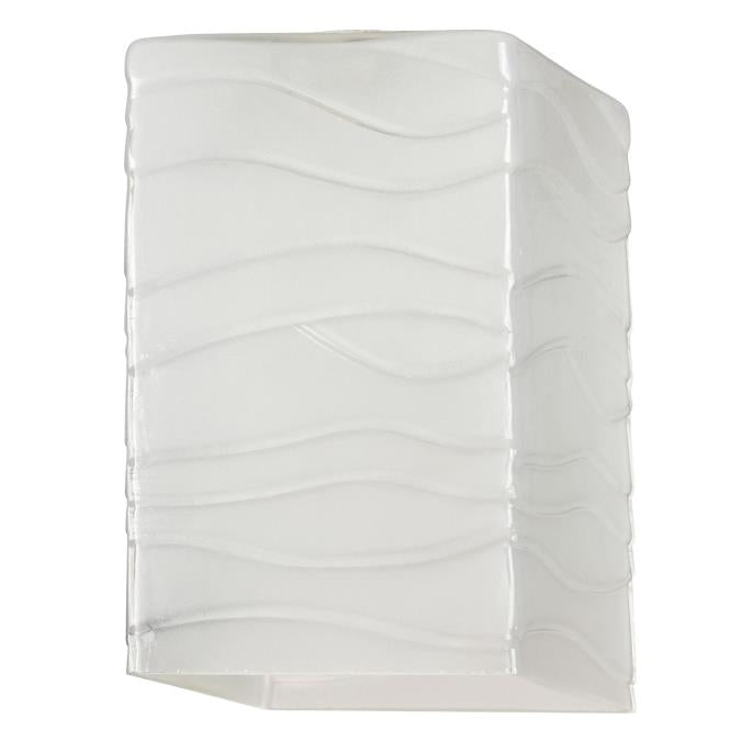 2-1/4-Inch Wavy White Glazed Shade