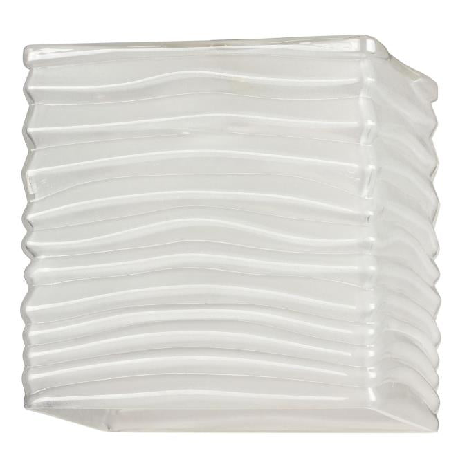 2-1/4-Inch Rippled White Glazed Shade