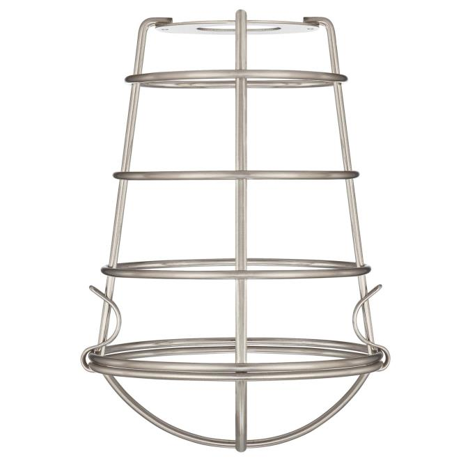 2 1/4-Inch Brushed Nickel Industrial Cage Shade