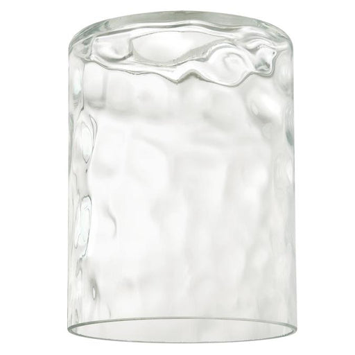 Clear Hammered Cylinder Shade