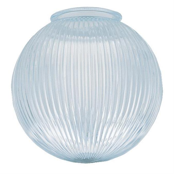 4-Inch Clear Prismatic Glass Globe 6-Pack