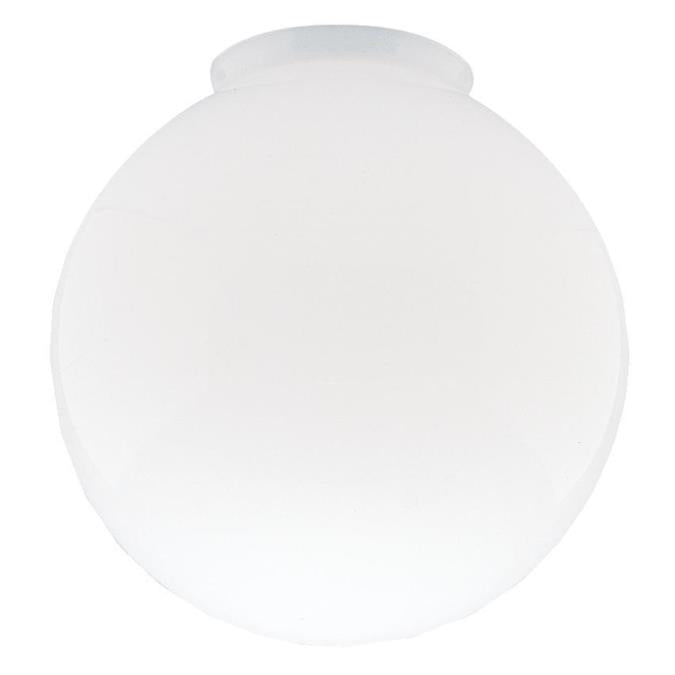 3-1/4-Inch Handblown Gloss White Glass Globe 6-Pack