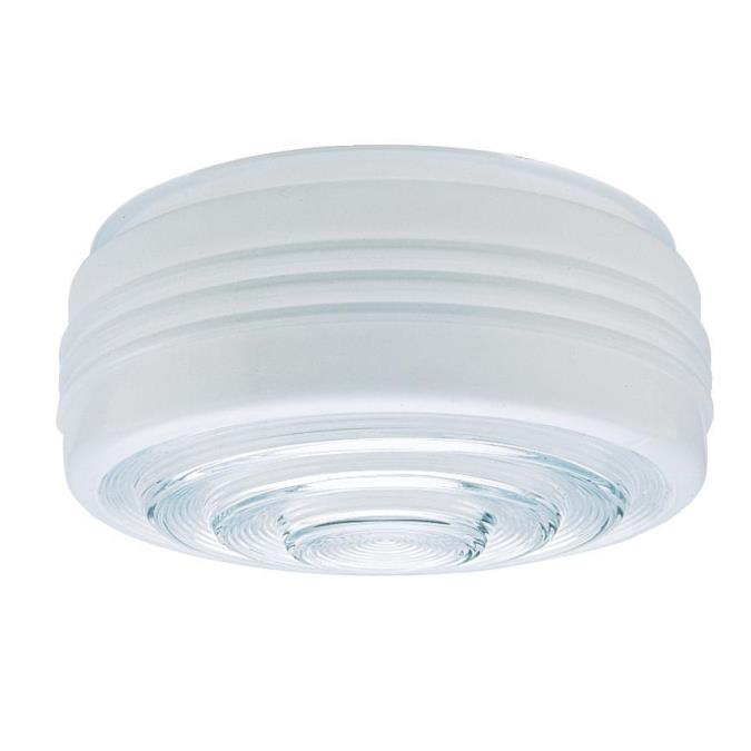 6-Inch White and Clear Glass Drum Shade 6-Pack