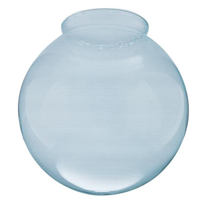 3-1/4-Inch Handblown Gloss Clear Lustre Glass Globe 4-Pack