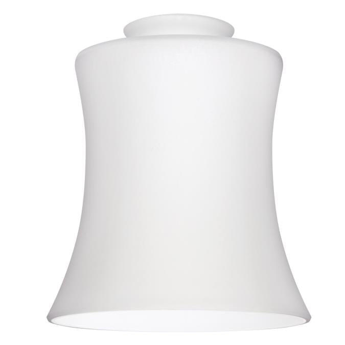 2-1/4-Inch Handblown White Opal Fluted Glass Shade