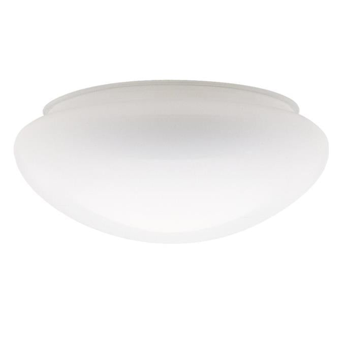 8-Inch White Glass Mushroom Shade 6-Pack