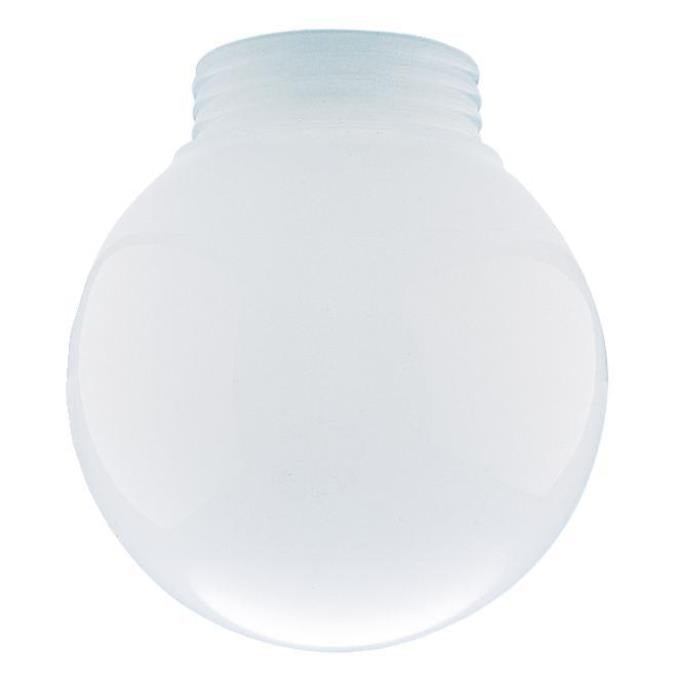 3-1/4-Inch White Polycarbonate Globe 6-Pack