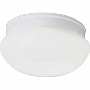 "8"" White Glass Mushroom Light"