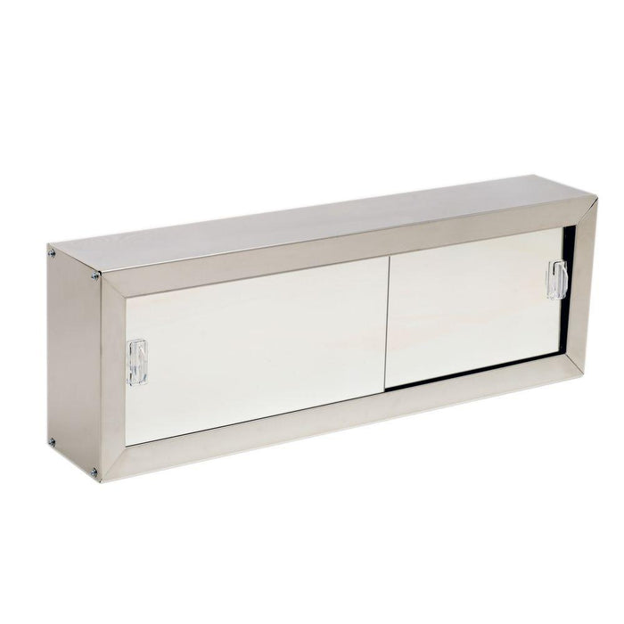 24in Stainless Steel Cosmetics Cabinet with Sliding Doors