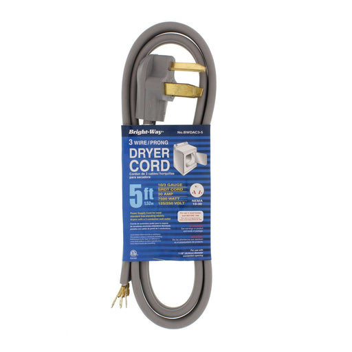 Dryer Cord 5' 3 Conductor
