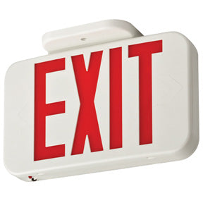Exit Light, Red LED, Rechargeable Battery Backup