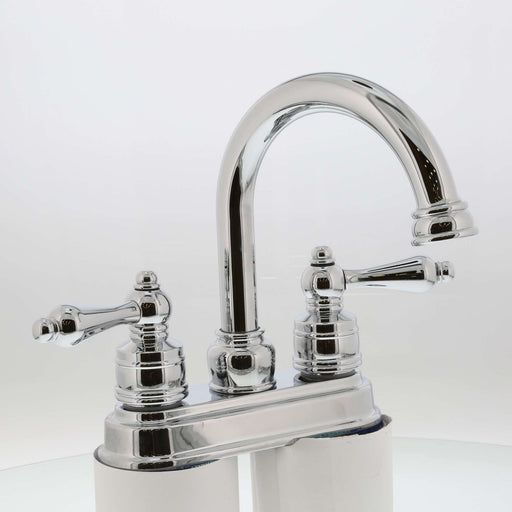 Two Handle High Spout Teapot Bath Faucet Chrome