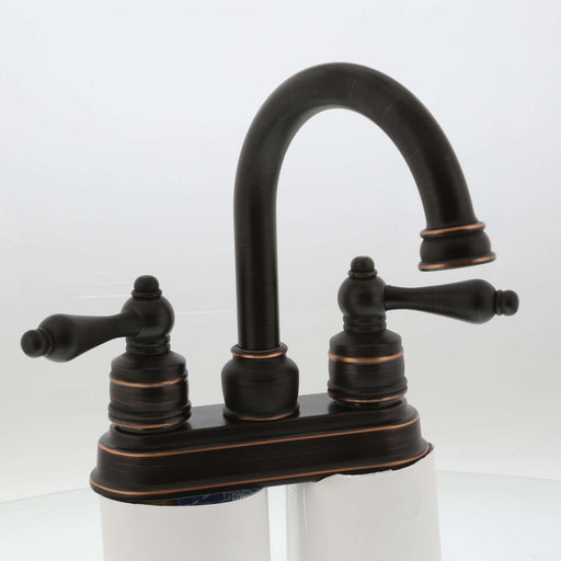 Two Handle High Spout Teapot Bath Faucet Oil Rubbed Bronze