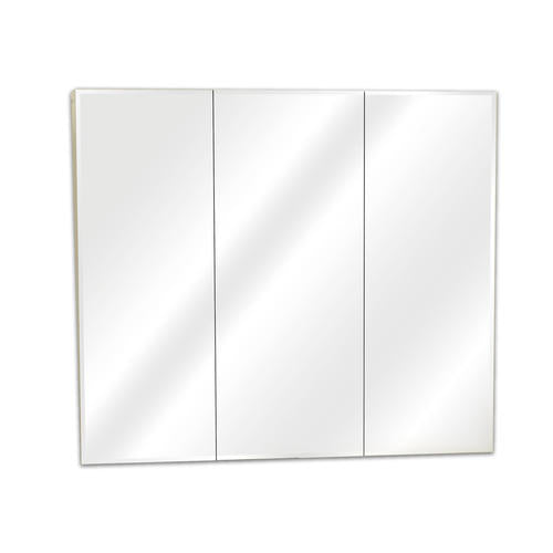 30in Frameless Beveled Tri-View Medicine Cabinet