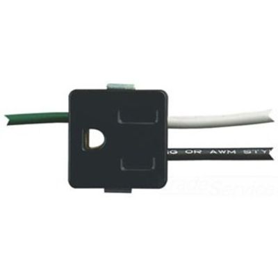 Snap-in Outlet with Ground Wire, Black