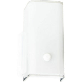 One Light White Glass Bath Fixture