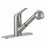 Pull-Out Kitchen Deck Faucet Satin Nickel
