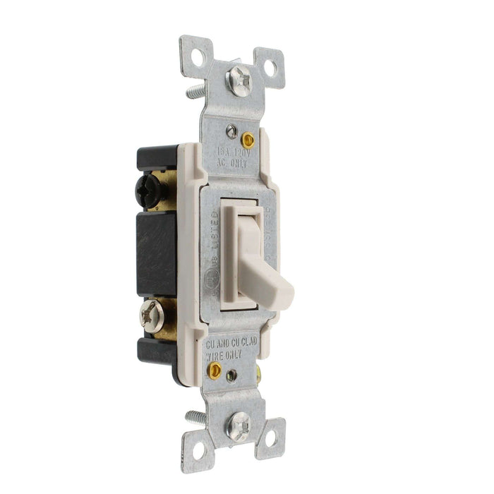 3-Way 15 Amp Toggle Switches White