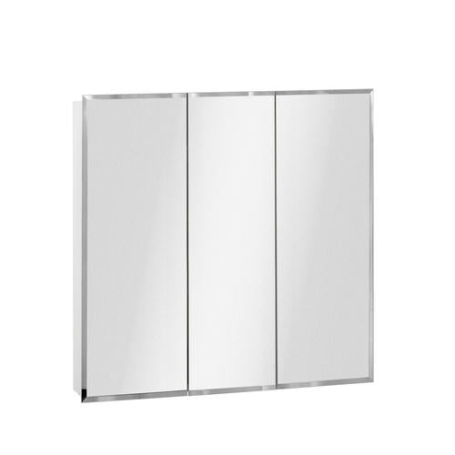 36in Frameless Beveled Tri-View Medicine Cabinet