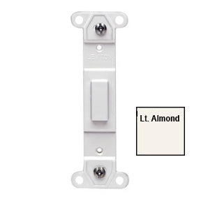 Blank Toggle Wallplate Insert, Almond
