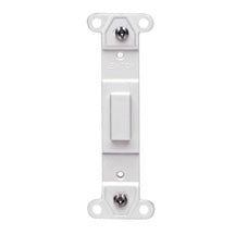 Blank Toggle Wallplate Insert, White