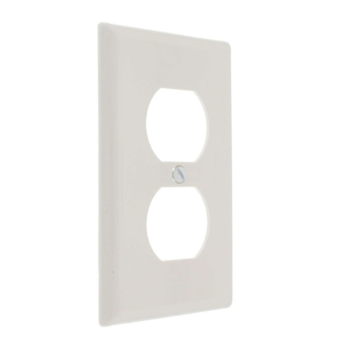 Duplex Receptacle Wall Plate White