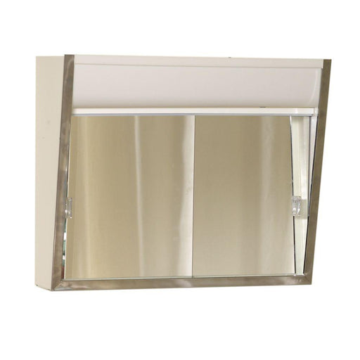 Lighted Stainless Steel Framed Medicine Cabinet