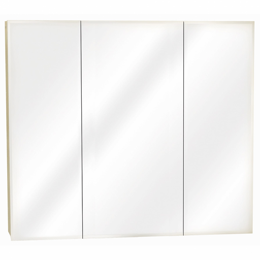 36 in Frameless Beveled Tri-View Medicine Cabinet