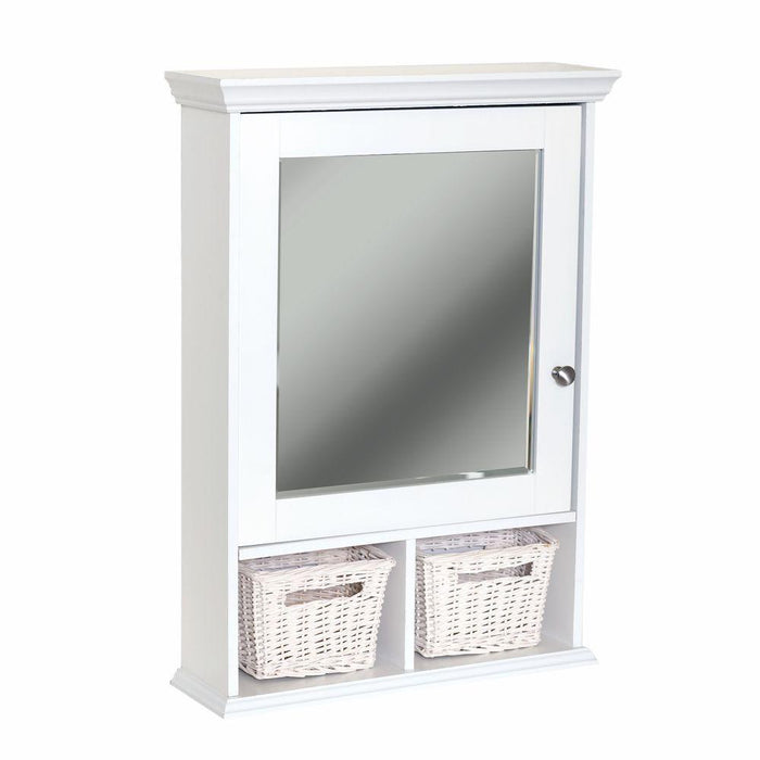 White Medicine Cabinet with Baskets