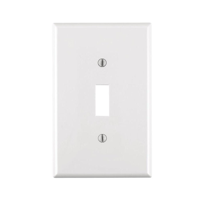 Toggle Switch Plate Cover White