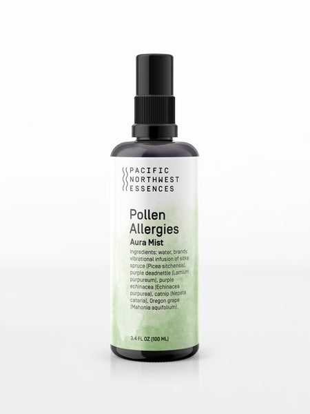 Pollen Allergies Aura Mist flower essence for headaches