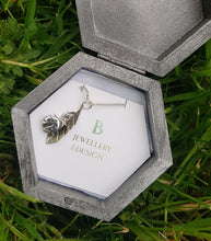Sterling silver handcrafted ladybird pendant