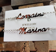"Sterling silver ""Name"" necklace"