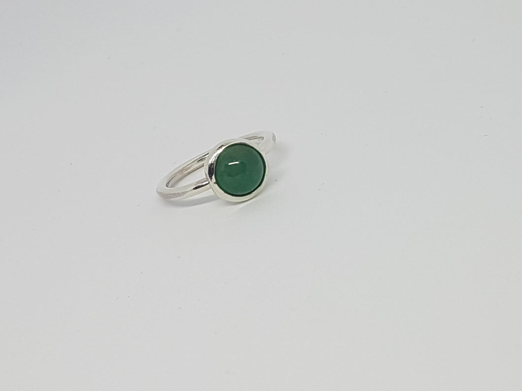 SOLD! Sterling silver ring with aventurine