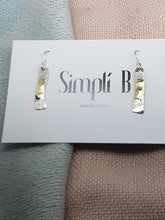 Sold! Sterling silver & 9ct gold drop earrings