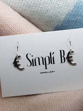"Sterling silver ""Euro"" drop earrings"
