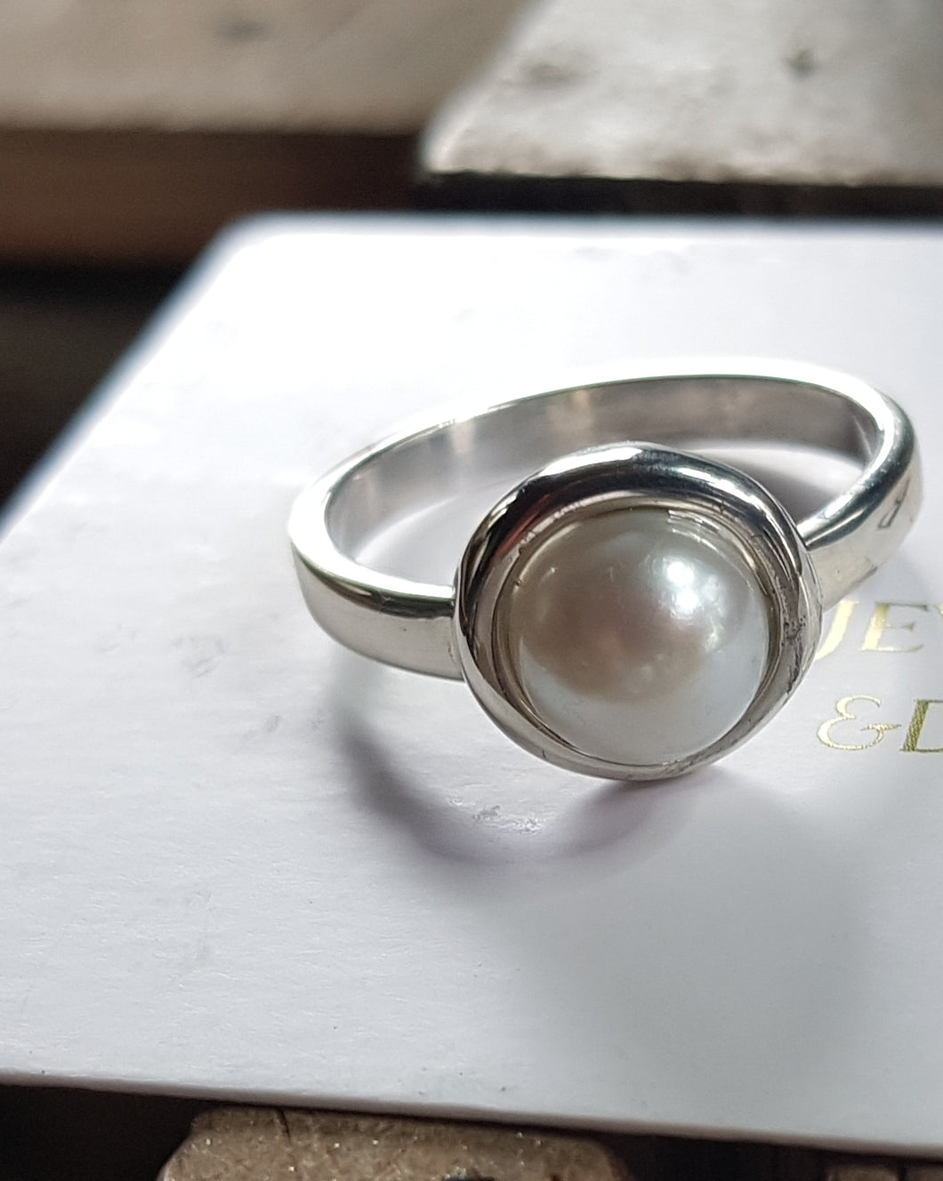 Sterling silver remodel of pearl ring
