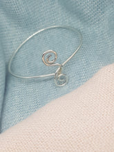 "Sterling silver ""Twist"" bangle"